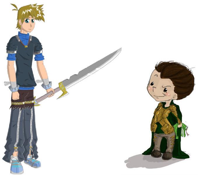 Luke and Loki